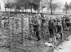Soldados de un batallón de marina británico Preparando en Alexandra Palace un...