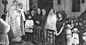 Boda de la Señorita María de la Paz Méndez Angulo, Hija del ilustre artista...