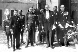 Don Claudio Sánchez albornoz Presentó al jefe de estado Portugués
