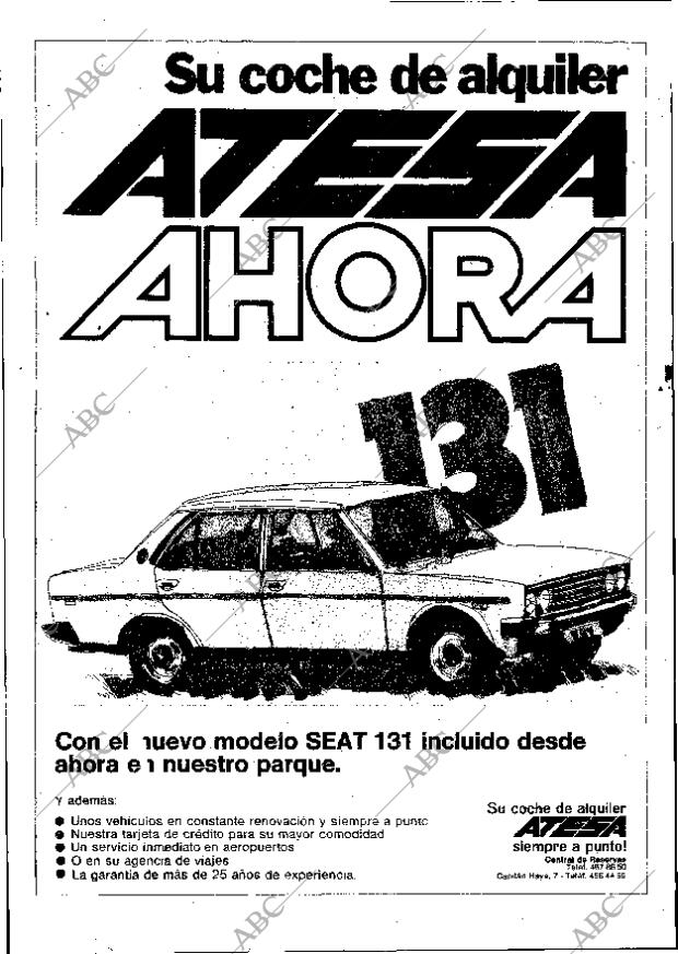 Periódico ABC MADRID 12 09 1975,portada Archivo ABC