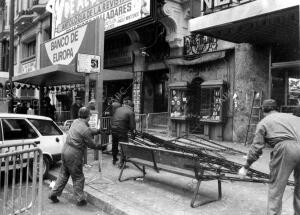 La discoteca Alcalá 20 en el momento en el que Ocurrió el incendio