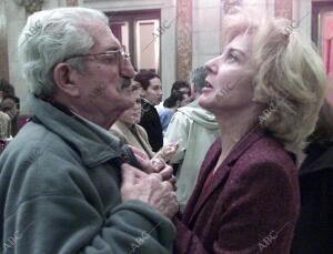 """Presentacion de los Premios """"Goya"""" en la plaza de la Villa A cargo de la..."""