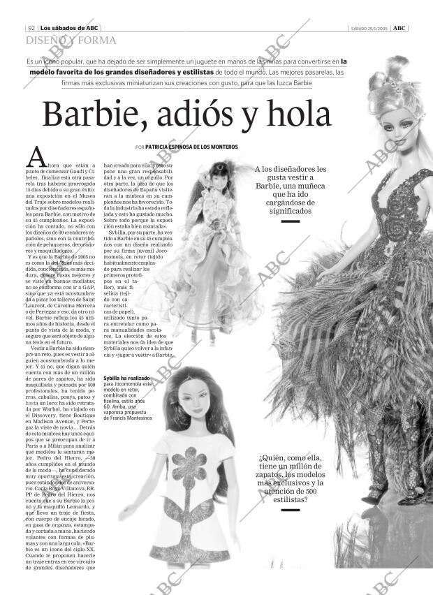 Periódico ABC CORDOBA 29 01 2005,portada Archivo ABC