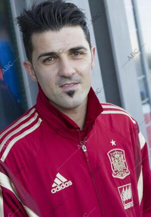 Encuentro y ruedas de prensa de los jugadores de la selección española