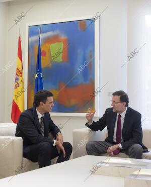 Primera reunión de Mariano Rajoy y Pedros Sanchez en el Palacio de la Moncloa