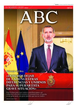 ABC MADRID 19-03-2020 página 1