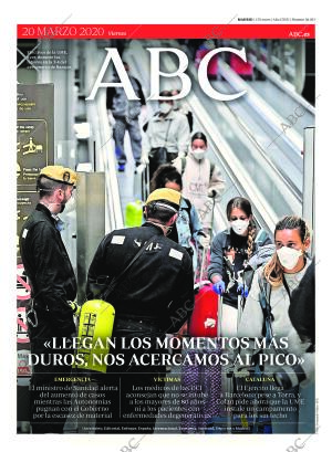 ABC MADRID 20-03-2020 página 1