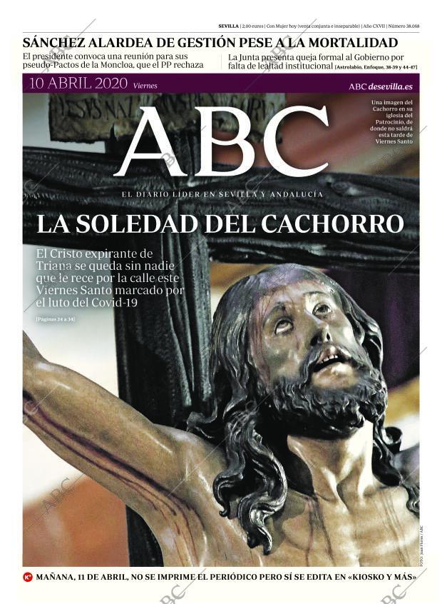 Periódico Abc Sevilla 11 04 2020 Portada Archivo Abc