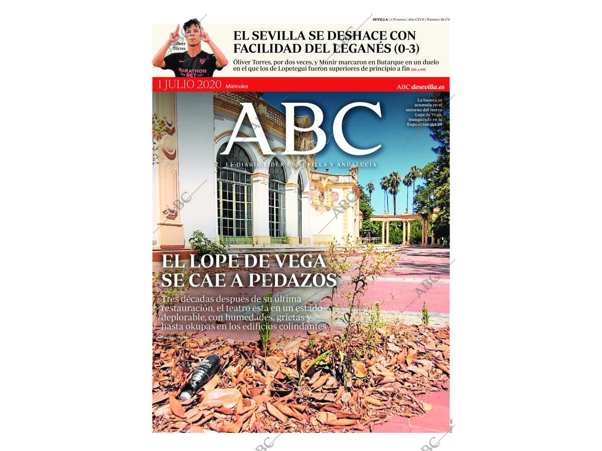 Periódico Abc Sevilla 01 07 2020 Portada Archivo Abc