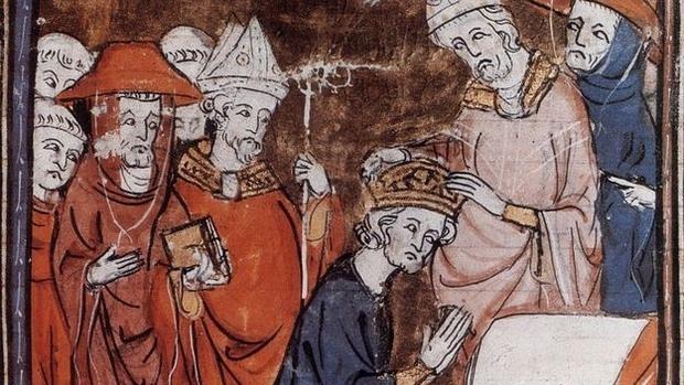 Pintura de la coronación de Carlomagno