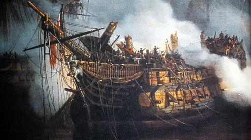 Bucentaure, el buque de Villeneuve en Trafalgar