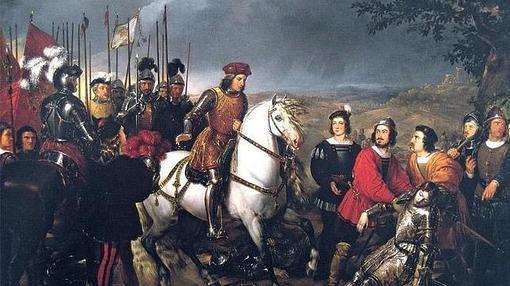 El Gran Capitán observa el cadáver del Duque de Nemours tras la batalla de Ceriñola