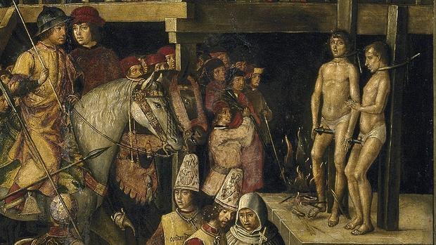 Cuadro Auto de Fe presidido por Santo Domingo de Guzmán de Pedro Berruguete (c. 1500)