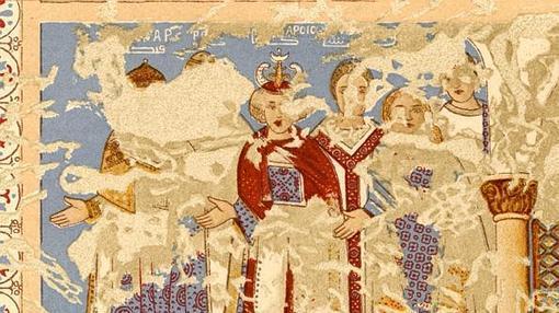 Entre los frescos de Qusair Amra (Jordania) está una representación de reyes que se rinden al califa omeya. Uno de ellos es «Roderic»