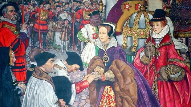 María I de Inglaterra entrando en Londres para tomar posesión del trono en 1553