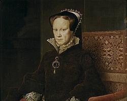 Retrato de María Tudor pintado por Antonio Moro