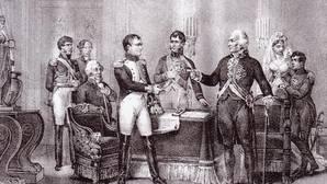 En las Abdicaciones de Bayona, Carlos IV y Fernando VII aceptaron dinero y tierras a cambio de ceder España a los franceses