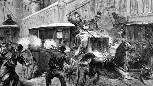 Los asesinos disparan contra el carruaje de Prim