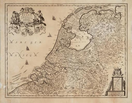 Mapa de las provincias de los Países Bajos en el siglo XVI