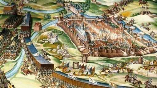 Sala de batallas de El Escorial, dedicado a la batalla de San Quintín