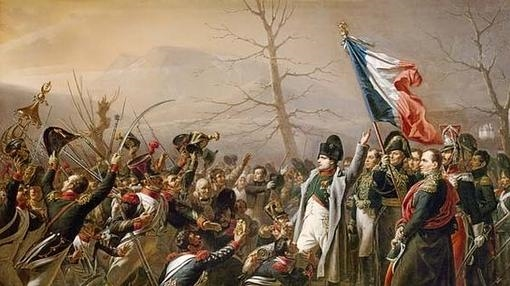 Napoleón en Waterloo