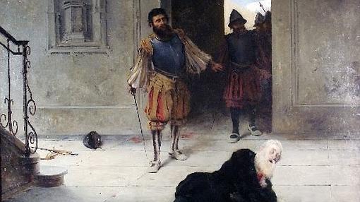 Francisco de Pizarro, herido de muerte en su palacio de Lima