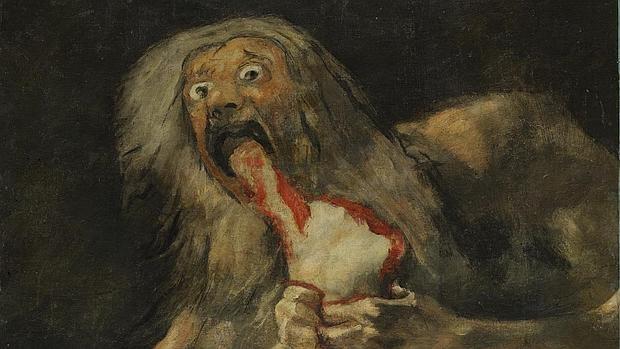 Saturno devorando a un hijo, de Francisco de Goya
