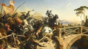 El duelo entre los caballeros franceses y los hombres del Gran Capitán