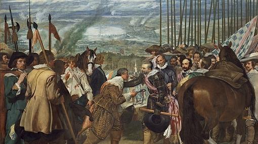 La rendición de Breda. por Diego de Velázquez