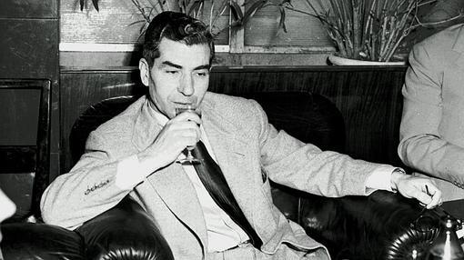 Fotografía de Lucky Luciano, en 1948