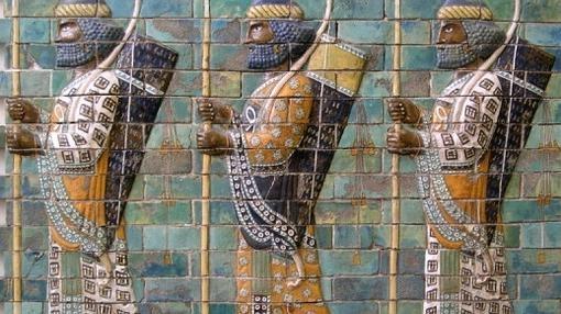 Mosaico que representa a los «Inmortales»