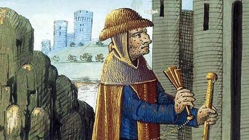 Un leproso en la Edad Media