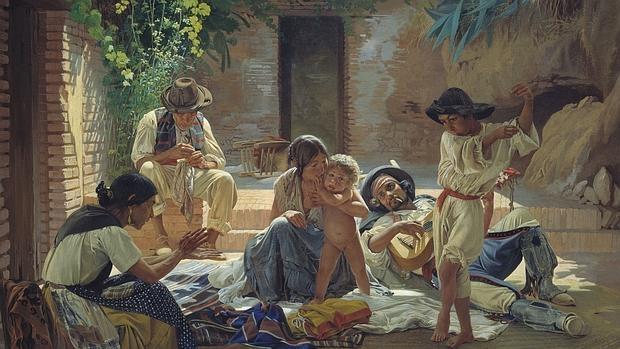 Pintura de una familia gitana española, 1853