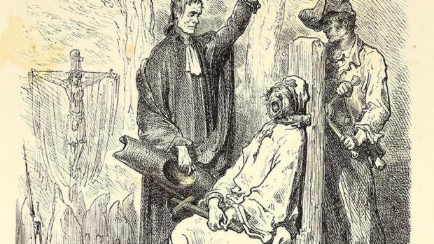 «Ejecución de un asesino en Barcelona», por Gustave Doré, publicado en 1874.
