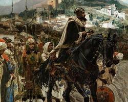 Detalle del cuadro «La rendición de Granada», de Francisco Pradilla (1882).