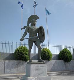 Estatua del Rey Leonidas en la ciudad de Esparta