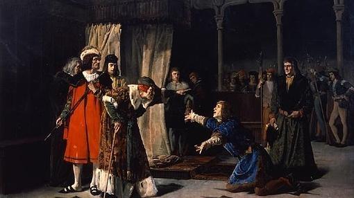 La escena de la detención de Carlos fue inmortalizada por el pintor romántico Emilio Sala (1850-1910)