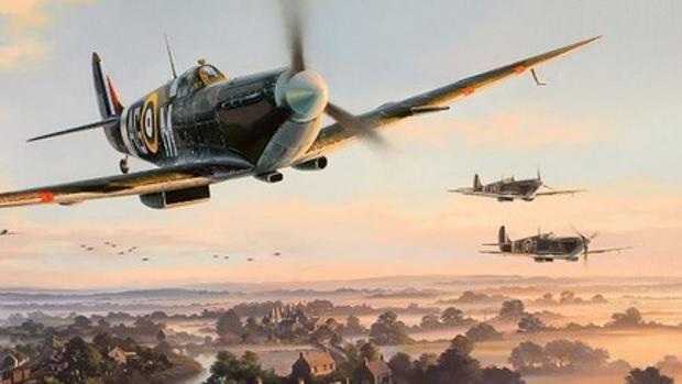 Spitfires durante un combate