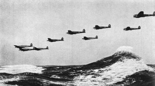 Heinkel HE 111 en formación