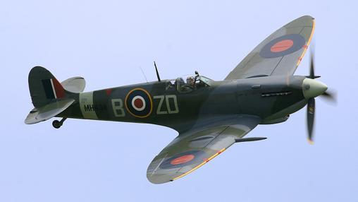 Spitfire en vuelo