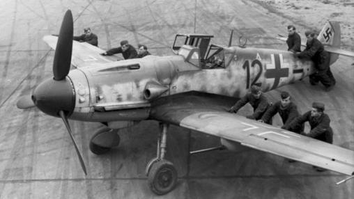 Bf 109 en tierra