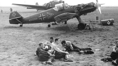 Pilotos frente a un Bf 109