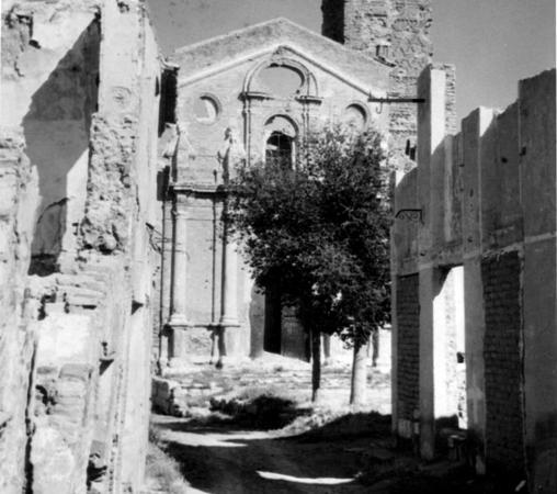 Belchite, destruído tras la contienda
