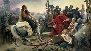 Julio César acepta la rendición de Vercingétorix