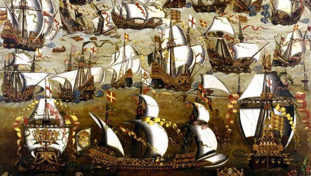 La batalla entre la Armada española y la flota inglesa.