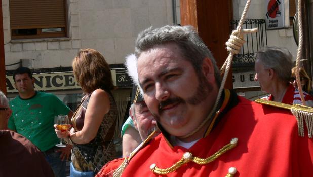 Ignacio Moratinos, descendiente del Empecinado, en una recreación de la ejecución en Roa