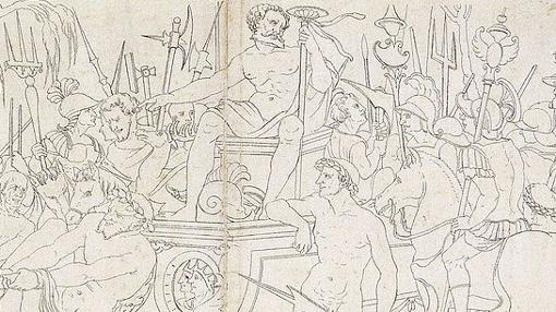 Alegoría de las victorias de Quinto Sertorio, por Hans Holbein el Joven