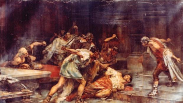 «La muerte de Sertorio», cuadro de Vicente Cutanda