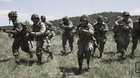 Recreación de la batalla de Carentan