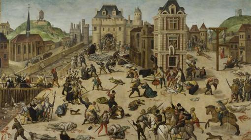 Representación de la matanza de San Bartolomé según François Dubois